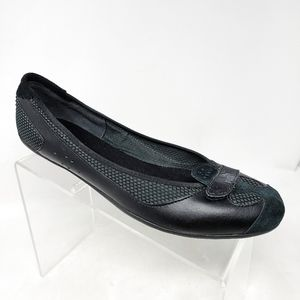 Puma Eco Ortholite Womens 11 US Black Leather Flat